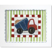 <strong>Doodlefish</strong> Transportation Dump Truck Framed Giclee Wall Art