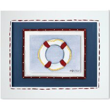 Transportation Life Ring Framed Giclee Wall Art