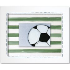 Sports Soccer Ball Framed Art