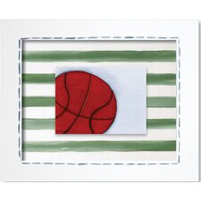 Sports Basketball Framed Giclee Wall Art