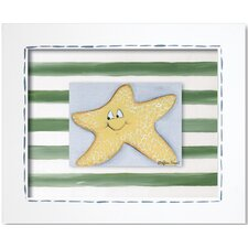 Sea Life Starfish Framed Art