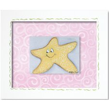 Sea Life Starfish Framed Giclee Wall Art