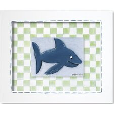 <strong>Doodlefish</strong> Sea Life Shark Framed Giclee Wall Art