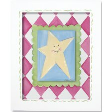 Moon and Star Star Framed Giclee Wall Art