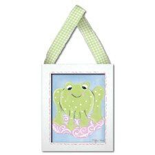 Girl Frog Framed Giclee