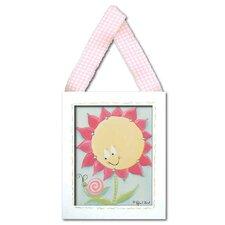 Flowers and Bugs Sunny Flower Giclee Framed Art