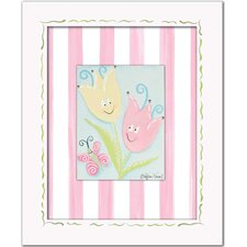 Flowers and Bugs Tiptoe Tulips with Butterfly Wall Art