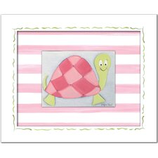 <strong>Doodlefish</strong> Flowers and Bugs Lilly Turtle Framed Giclee Wall Art