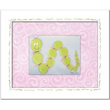 Flowers and Bugs Iris Inchworm Framed Art