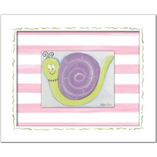 <strong>Doodlefish</strong> Flowers and Bugs Jasmine Snail Framed Giclee Wall Art