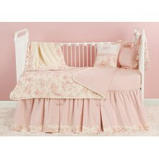<strong>Doodlefish</strong> Toile Pink Toddler Coverlet and Pillow
