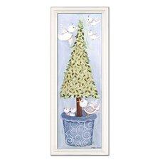 Bird Topiary Giclee Framed Art