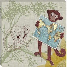 Safari Monkey Safari Giclee Canvas Art