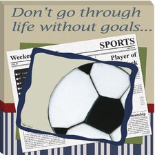 Soccer in the News Giclee