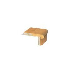 """1.06"""" x 3.5"""" Birch Stair Nose Trim in Hematite"""