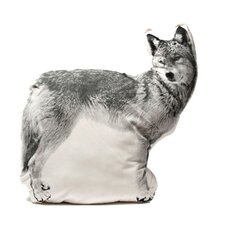 <strong>Fauna</strong> Large Organic Cotton Wolf Cushion