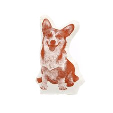 Organic Cotton Corgi Pillow