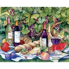 "<strong>Magic Slice</strong> 12"" x 15"" Vineyard Picnic Design Cutting Board"