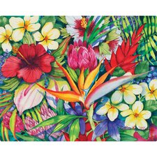 "12"" x 15"" Tropical Floral Design Cutting Board"