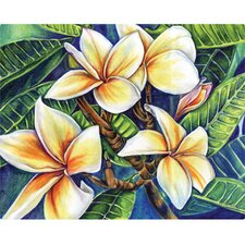 "12"" x 15"" Plumeria Design Cutting Board"