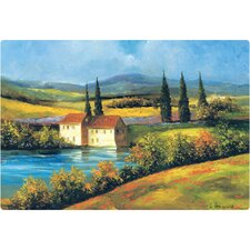 "7.5"" x 11"" Tuscan Scene Design Cutting Board"