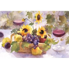 "7.5"" x 11"" Summer Wine Design Cutting Board"