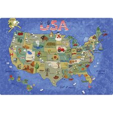 "<strong>Magic Slice</strong> 7.5"" x 11"" USA Map Design Cutting Board"