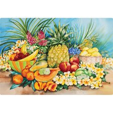 "7.5"" x 11"" Tropical Fruit Design Cutting Board"