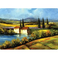 "<strong>Magic Slice</strong> 9.5"" x 12.5"" Tuscan Scene Design Cutting Board"