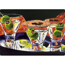 "5"" x 7"" Three Martinis Design Cutting Board"