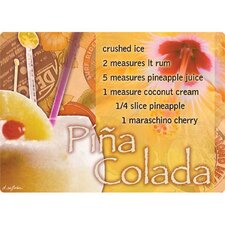 "<strong>Magic Slice</strong> 5"" x 7"" Pina Colada Design Cutting Board"
