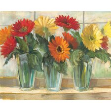 "12"" x 15"" Gerberas in Glass Valley Design Cutting Board"