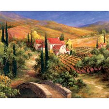 "12"" x 15"" Tuscan Bridge Design Cutting Board"