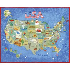 USA Map Cutting Board