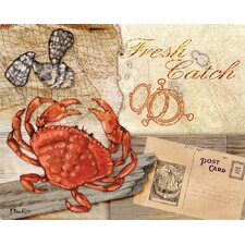 Fresh Catch Dungeness Crab Cutting Board