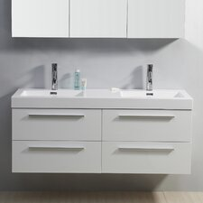 "Finley 53.9"" Double Bathroom Vanity Set"