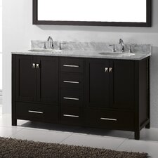 "Caroline Avenue 60.8"" Double Sink Bathroom Vanity Set"