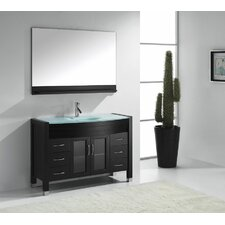 "Ava 47"" Single Bathroom Vanity Set with Mirror"