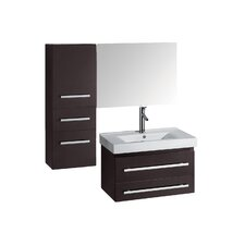 "Antonio 29"" Single Bathroom Vanity Set with Mirror"