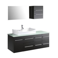 "Ultra Modern 53"" Bathroom Vanity Set with Single Sink"