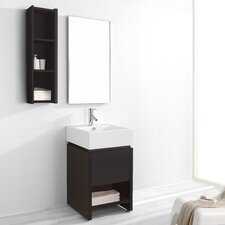 "Curtice 20"" Single Bathroom Vanity Set with Mirror"