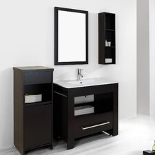 "Masselin 35"" Single Bathroom Vanity Set with Mirror"