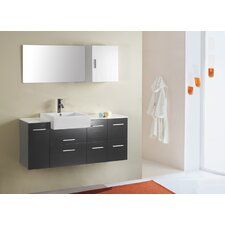 "Hazel 56"" Single Bathroom Vanity Set with Mirror"
