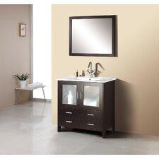"Felice 35"" Single Bathroom Vanity Set with Mirror"