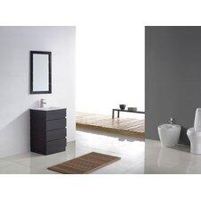 """Bruno 24"""" Single Contemporary Bathroom Vanity Set with Mirror"""