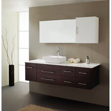 "Justine 59"" Single Sink Bathroom Vanity Set"