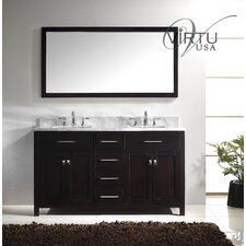"Caroline 61"" Double Sink Bathroom Vanity Set"