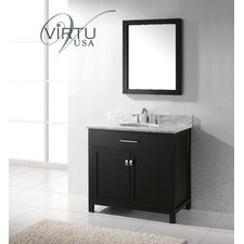 "<strong>Virtu</strong> Caroline 35.8"" Single Sink Bathroom Vanity Set"