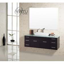 "<strong>Virtu</strong> Biagio 56"" Bathroom Vanity Set"