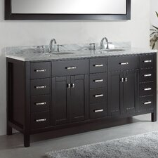 "Caroline Parkway 71.9"" Double Sink Bathroom Vanity Set"